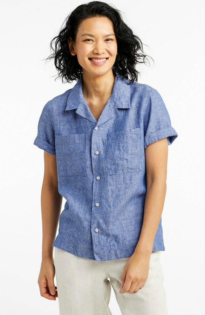 Short sleeves blouse Linen blouse Trendy blouse Linen shirt Women shirt Linen tank top Summer linen shirts Flax blouse. Linen top