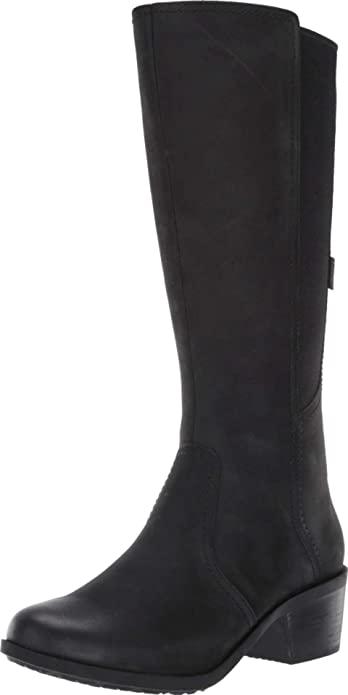 Teva-flat-black-knee-high-boots