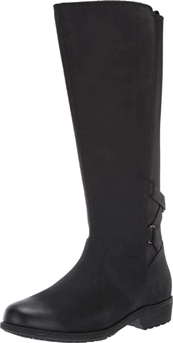 Teva-flat-black-knee-high-boots