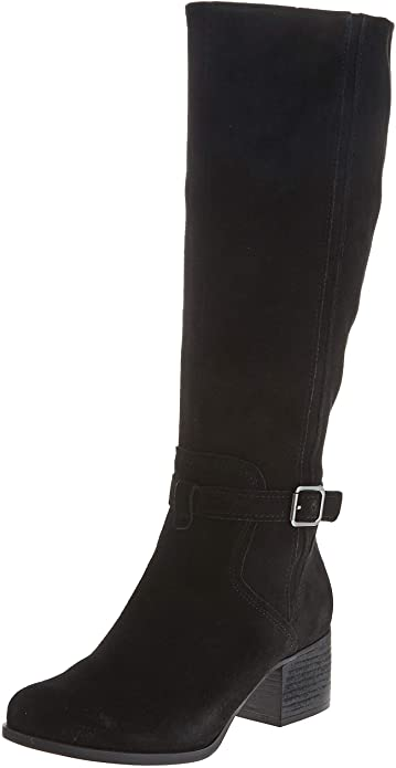 UGG-black-knee-high-heels