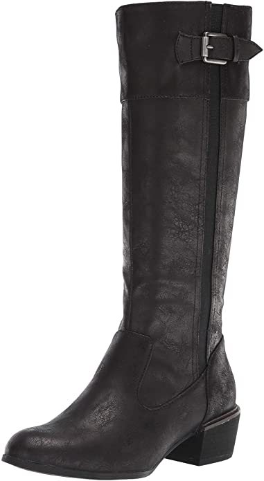 calvin-klein-black-flat-knee-high-boots