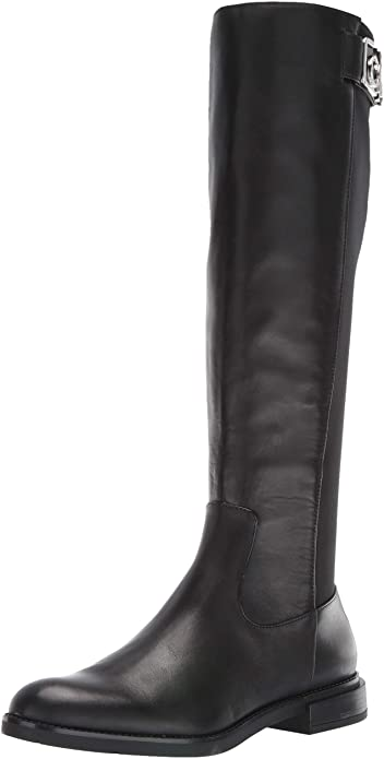 calvin-klein-black-flat-knee-high-boots