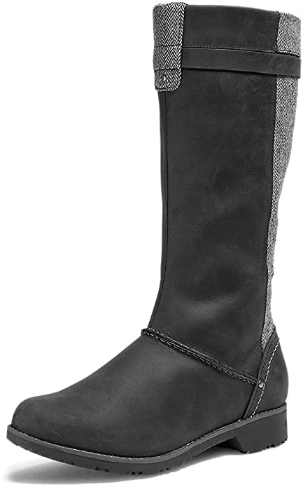 merrell-black-leather-knee-boots